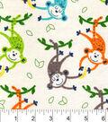 Snuggle Flannel Fabric 42\u0022-Monkeys And Bananas