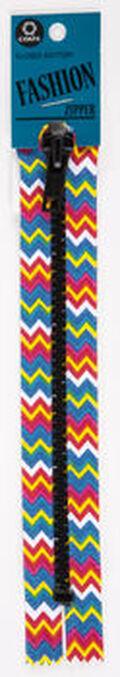 Coats & Clark 7\u0027\u0027 Printed Closed End Fashion Zipper-Chevron