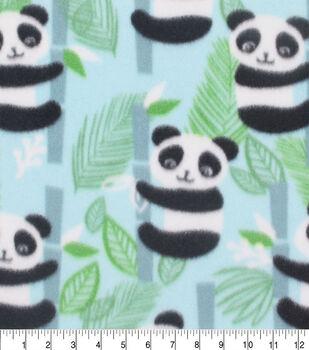 Blizzard Fleece Fabric-Panda Aqua