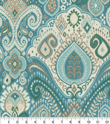 "Waverly Sun N' Shade Outdoor Fabric 54""-Boho Passage Spa"