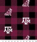 Texas A&M Aggies Fleece Fabric-Buffalo Plaid