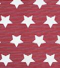 Doodles Juvenile Rayon Apparel Fabric 53\u0027\u0027-Stars & Stripes