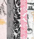Fat Quarter Bundle Cotton Fabric 18\u0027\u0027-Vintage Floral Keys