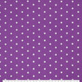 Snuggle Flannel Fabric-White Dots on Hyacinth Violet