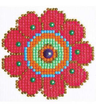 "Diamond Embroidery Facet Art Kit 6""X6""-Flower Power"