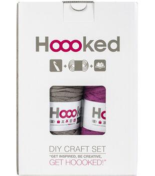 Hoooked RibbonXL Valencia Bag DIY Crochet Kit-Crazy Plum