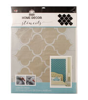 FolkArt Home Decor 21.68''x17.68'' Laser Cut Wall Stencil-Trellis, , hi-res