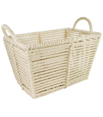 Small Rope Bin-Ivory