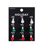 hildie & jo Christmas 9 pk Pearl Bead Holiday Charms, , hi-res