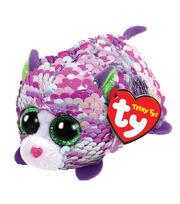 Ty Inc. Teeny Tys Sequin Purple Cat-Lilac, , hi-res