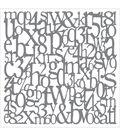 DecoArt Andy Skinner Mixed Media 8\u0027\u0027x8\u0027\u0027 Stencil-Alphabet Spaghetti