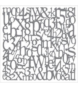 DecoArt Andy Skinner Mixed Media 8''x8'' Stencil-Alphabet Spaghetti