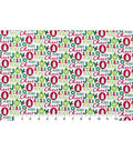Snuggle Flannel Fabric 42\u0022-Cheer Joy Peace Merry
