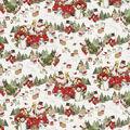 Christmas Cotton Fabric-Scenic & Snowmen on Trucks