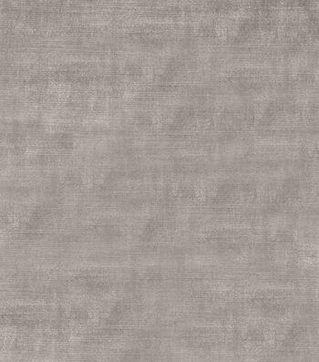 """Jaclyn Smith Upholstery Fabric 54""""-Theater Velvet/Pewter"""