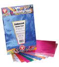 Embossed Paper 8-1/2\u0022X11\u0022 12 Sheets/Pkg-Assorted Colors