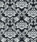 Home Essentials Lightweight Decor Fabric 45\u0022-Black Damask