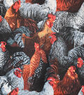 Novelty Cotton Fabric -Mixed Roosters