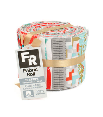 Jelly Roll Cotton Fabric Pack 2.5''x42''-Trend Metallic