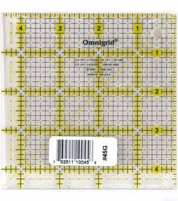 """Omnigrid Quilter's Square 4.5""""X4.5"""""""