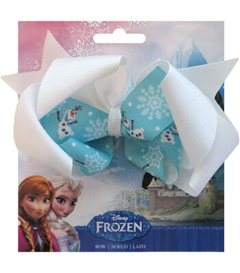 "Disney Frozen Grosgrain 1"" Ribbon Hair Bows-Olaf"