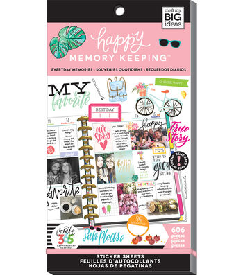 The Happy Planner Big Value Pack Stickers-Everyday Memories