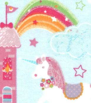 Snuggle Flannel Fabric -Magic Castles And Unicorns