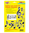 Music Symbols Classic Accents Variety Pack, 198 Per Pack, 6 Packs