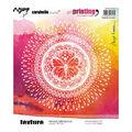 Carabelle Studio Art Printing Rubber Texture Plate-Butterfly Mandala