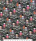 Novelty Cotton Fabric-Kokeshi Dolls