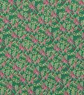 Christmas Cotton Fabric 43\u0022-Packed Hollys