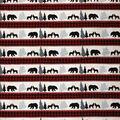 Super Snuggle Flannel Fabric-Black Bear Buffalo Check Stripe