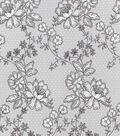Keepsake Calico Cotton Fabric-Lace On Dots Gray