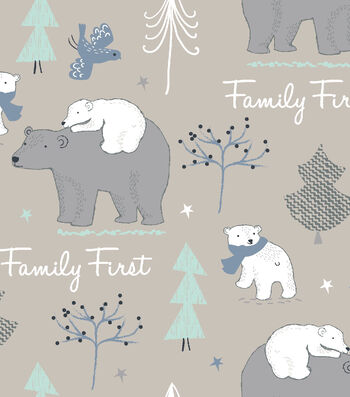 """Snuggle Flannel Fabric 42""""-Family First"""