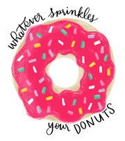 Cricut Large Iron-On Design-Whatever Sprinkles your Donuts, , hi-res