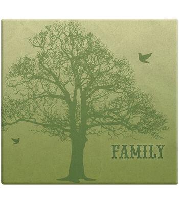 MBI 12''x12'' Post Bound Scrapbook Album with Name Window-Family Tree