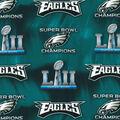 Philadelphia Eagles Super Bowl 52 Championship Cotton Fabric