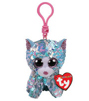 Ty Inc. Flippables Sequin Clip Blue Cat-Whimsy, , hi-res