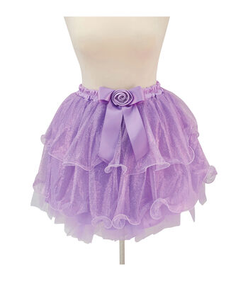 Maker's Halloween Adult Two-Tier Wire Edge Short Tutu