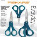 Fiskars Performance Fashion Softgrip Titanium Scissors Set of 3-Sapphire