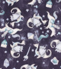 Anti-Pill Plush Fleece Fabric-Navy Knights & Dragons