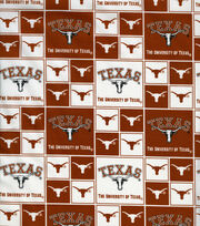 University of Texas Longhorns Cotton Fabric -Block, , hi-res