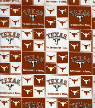 University of Texas Longhorns Cotton Fabric -Block