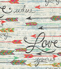 Novelty Cotton Fabric 43\u0022-Southwest Love