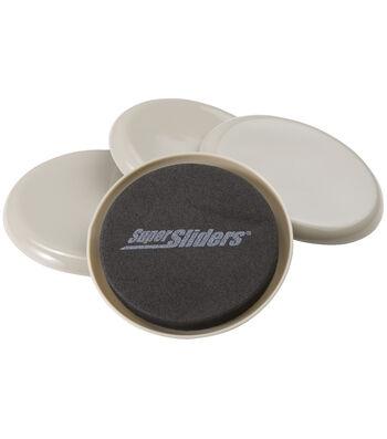 "Super Sliders Reusable Carpet Sliders 3.5"" 4 Pack"