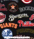 MLB All Team Fleece Fabric 58\u0022-Logos