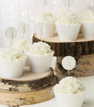 Save the Date Cupcake Picks-Rustic