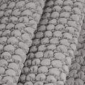 Lightweight Décor Fabric-Medium Gray Velvet Bubble