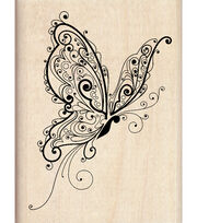 Inkadinkado Rubber Stamp-Butterfly, , hi-res