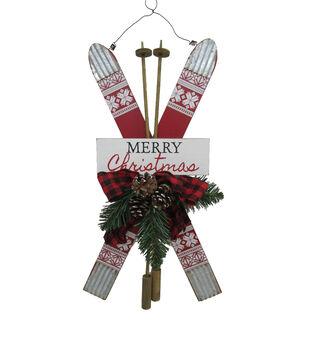 Handmade Holiday Christmas Ski Wall Decor-Merry Christmas